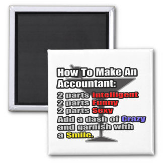 How To Make an Accountant 2 Inch Square Magnet