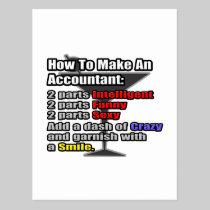 How To Make an Accountant Postcard