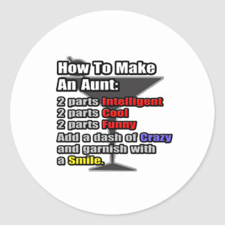 How To Make an Aunt Round Stickers
