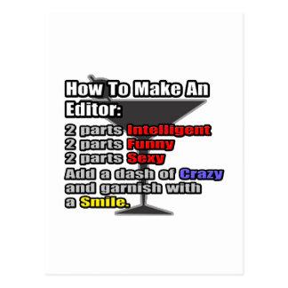 How To Make an Editor Postcard