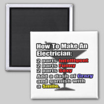 How To Make an Electrician 2 Inch Square Magnet