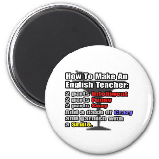 How To Make an English Teacher 2 Inch Round Magnet