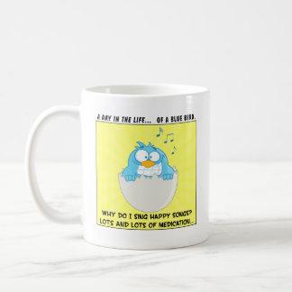 How to Make Employees Sing Like Happy Blue Birds Coffee Mug