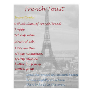 How To Make French Toast Copycat Recipe Poster