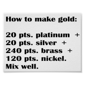 How to make gold poster
