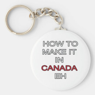 HOW TO MAKE IT IN CANADA EH! BASIC ROUND BUTTON KEYCHAIN