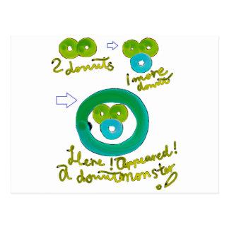 How to make the doughnut monstrous beast postcard