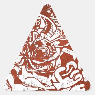 How to meditate like a pro triangle sticker