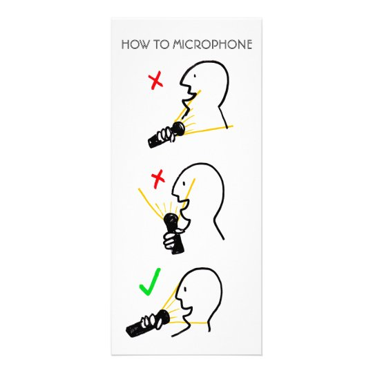 HOW TO MICROPHONE RACK CARD