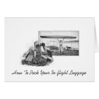 How To Pack Your In-flight Luggage Note Card