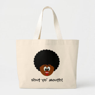 How to politely suggest that someone stop talking large tote bag