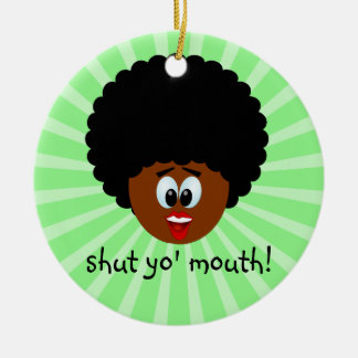 How to politely suggest that someone stop talking ornaments