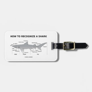 How To Recognize A Shark (Biology Humor) Bag Tag