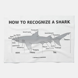 How To Recognize A Shark (Biology Humor) Hand Towel