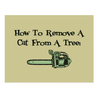 How to remove a cat from a tree post cards