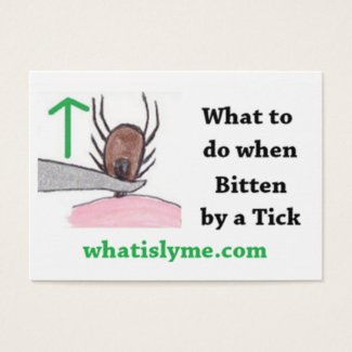 How to Remove a Tick Instructions Card
