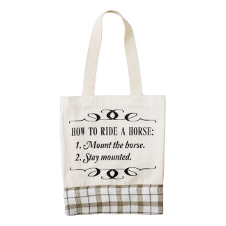 How to Ride a Horse Zazzle HEART Tote Bag