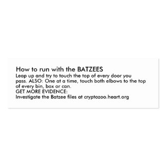 How to run with the BATZEES Mini Business Card
