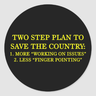 How to save the country classic round sticker