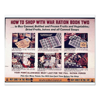 How To Shop With War Ration Book Two Card