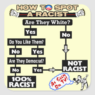 How To Spot A Racist: By Barack Obama! Square Sticker