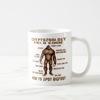 HOW TO SPOT BIGFOOT - Cryptozoology Field Guide Coffee Mug