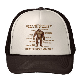 HOW TO SPOT BIGFOOT - Cryptozoology Field Guide Mesh Hats