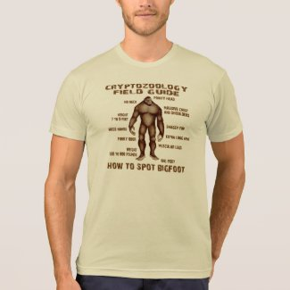 HOW TO SPOT BIGFOOT - Cryptozoology Field Guide Shirts