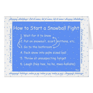 How to Start a Snowball Fight Card