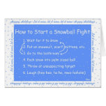 How to Start a Snowball Fight Greeting Card