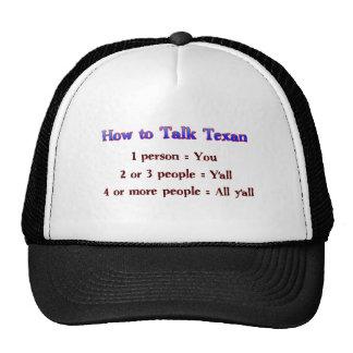 How to Talk Texan: Y'all Mesh Hats