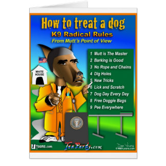 How To Treat a Dog Cards