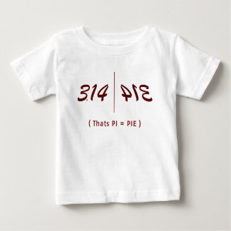 How to type PI Infant T-shirt
