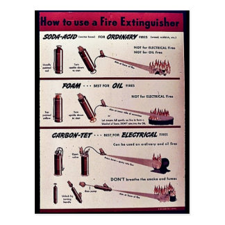 How To Use A Fire Extinguisher Postcard