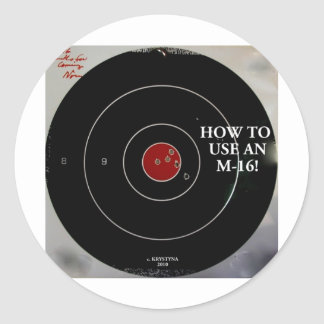 HOW TO USE AN M-16 CLASSIC ROUND STICKER