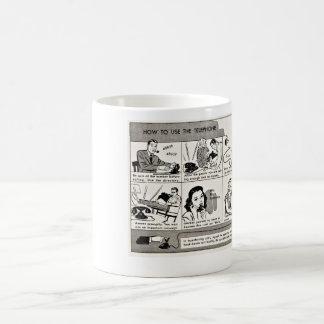 How To Use the Telephone-Vintage Tips Coffee Mug