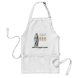 How To Wear A Toga (Clothing Instructions) Adult Apron