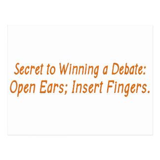 How to win a political debate postcard