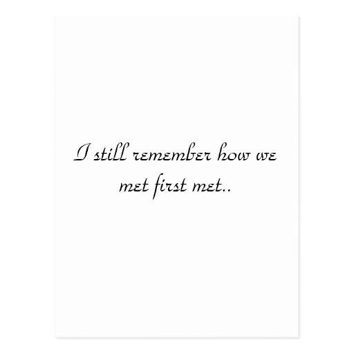 How We Met Postcard