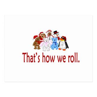 How We Roll Christmas Gang Postcard