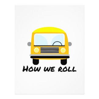 How We Roll Customized Letterhead