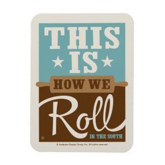 How We Roll Rectangular Photo Magnet