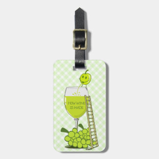 How Wine is Made Funny Illustration Luggage Tag
