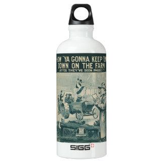 How Ya Gonna Keep 'Em Down On The Farm Aluminum Water Bottle