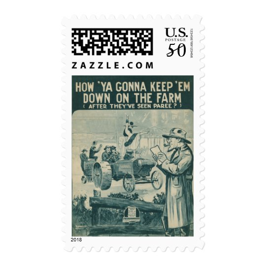 How Ya Gonna Keep 'Em Down On The Farm Postage