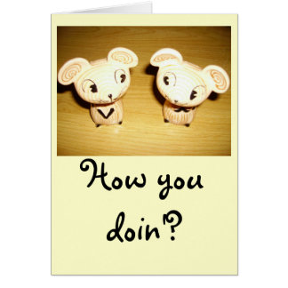 How You Doin'? Notecard Stationery Note Card