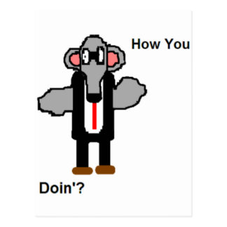 How You Doin'? Postcard