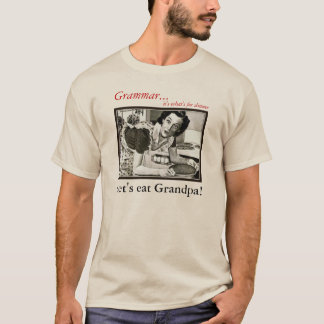 How you Should use a Comma Grammar Nazi Men T-Shirt