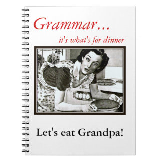How you Should use a Comma Grammar Nazi Notebook
