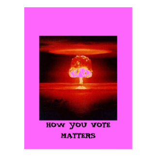 HOW YOU VOTE MATTERS POSTCARD